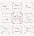 hand drawn frame doodle vintage wedding frame vector image