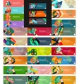Headers flat design option infographic banners vector image