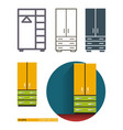 icons of the closet wardrobe vector image