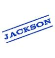 Jackson Watermark Stamp vector image