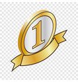 label number one isometric icon vector image vector image