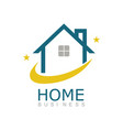 line home business logo vector image vector image