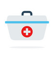 medical bag flat material design isolated object vector image vector image
