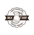 milk shop logo vector image