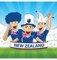 new zealand football support vector image vector image