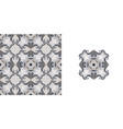 ornate decorative tiles abstract background vector image vector image