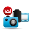 photographic camera image negative roll vector image