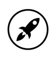 rocket icon in circle rocket filled flat symbol vector image