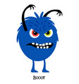 scary monster cute print for t-shirt vector image vector image