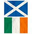 Scotland and Ireland flag vector image