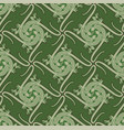 seamless pattern with lizards chasing a butterfly vector image