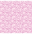 Seamless texture of hearts for a Valentine day vector image vector image