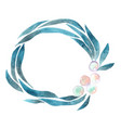 seaweed and pearl wreath frame watercolor vector image vector image