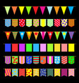 set garlands of colored flags vector image