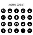set of 20 editable cook icons includes symbols vector image vector image