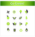 Set of ecology icons art vector image vector image