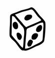 single dice vector image