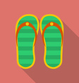 Slippers icon Modern Flat style with a long shadow vector image vector image