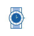 sport wrist watch line icon vector image