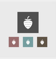 strawberry icon simple vector image vector image