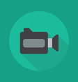 Technology Flat Icon Video camera vector image vector image