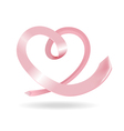 tie in the shape of heart vector image vector image