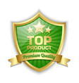 Top product shield vector image