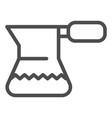turkish coffee pot line icon cezve for coffee vector image