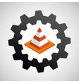 under construction gear traffic cone vector image vector image