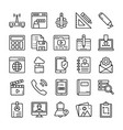 user interface icons set vector image vector image