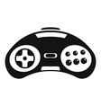 videogame controller icon simple style vector image vector image