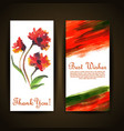 watercolor floral greeting card vector image vector image