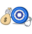 with money bag cryptonex coin character cartoon vector image vector image