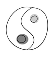 Yin and yang vector image vector image