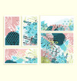 universal floral cards set vector image