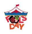 april fools day greeting card image vector image