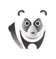 cute panda bear stylized geometric animal low vector image