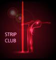girl on the pylon strip bar vector image