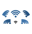 Wi fi sign isometric Logo for wireless network vector image