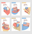 4th of july usa independence day hand drawn design vector image vector image