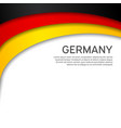 abstract waving germany flag paper cut style vector image vector image