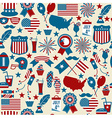 American design seamless pattern Independence day vector image vector image