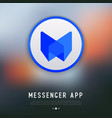 app logo for messenger or chat vector image vector image