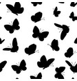 black butterfliesseamless pattern vector image