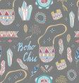 Boho Chic seamless pattern vector image