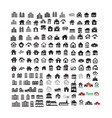 building real estate home icons set design vector image vector image