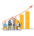 business growing colleagues working together vector image