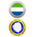 button as a symbol SIERRA LEONE vector image vector image