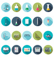 Chemical icons Flat design vector image vector image