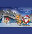christmas outdoor theme 5 vector image vector image